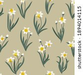seamless plant pattern with...   Shutterstock .eps vector #1894014115