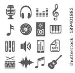 music icons   Shutterstock . vector #189401882
