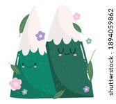 camping snowy mountains flowers ... | Shutterstock .eps vector #1894059862
