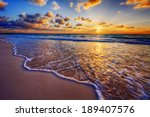 Colorful Ocean Beach Sunrise...