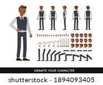 old businessman wear black and... | Shutterstock .eps vector #1894093405