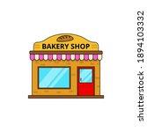 bakery shop building vector...   Shutterstock .eps vector #1894103332