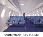 airplane interior seats with...   Shutterstock . vector #189411332