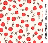 seamless floral pattern based... | Shutterstock .eps vector #1894138795