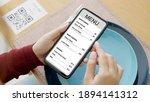 Hand's customer scan qr code...