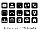 flat set with social icons... | Shutterstock .eps vector #1894147645