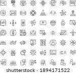 thin outline vector icon set... | Shutterstock .eps vector #1894171522