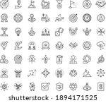 thin outline vector icon set...   Shutterstock .eps vector #1894171525