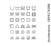 collection of laundry symbol... | Shutterstock .eps vector #1894176388