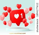 happy valentine's day holiday... | Shutterstock .eps vector #1894177612