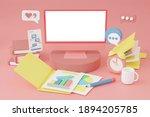 laptop notebook with screen... | Shutterstock . vector #1894205785