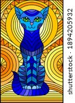 illustration in stained glass... | Shutterstock .eps vector #1894205932