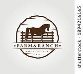 Farm  Ranch Logo  Horse Logo...