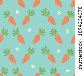 carrot seamless pattern. happy... | Shutterstock .eps vector #1894234378