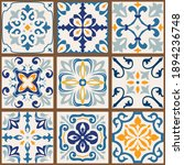 collection of 9 colorful tiles. ... | Shutterstock .eps vector #1894236748