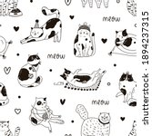 seamless pattern with cute...   Shutterstock .eps vector #1894237315