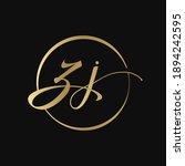 abstract script circle zj... | Shutterstock .eps vector #1894242595