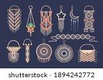 macrame wall hanging design ...   Shutterstock .eps vector #1894242772