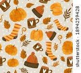 Autumn Theme Seamless Pattern...