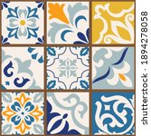 collection of 9 colorful tiles. ... | Shutterstock .eps vector #1894278058