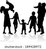 family silhouettes | Shutterstock .eps vector #189428972