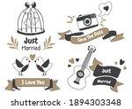 valentine label vector logo for ... | Shutterstock .eps vector #1894303348
