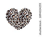 leopard print textured heart... | Shutterstock .eps vector #1894324255
