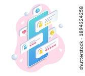 online dating mobile app  love... | Shutterstock .eps vector #1894324258