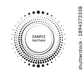 halftone dots in circle form....   Shutterstock .eps vector #1894373338