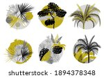 a set of tropical labels in... | Shutterstock .eps vector #1894378348