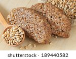 bread slices from wheat sprouts ...   Shutterstock . vector #189440582