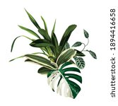 tropical palm leaves  jungle... | Shutterstock .eps vector #1894416658