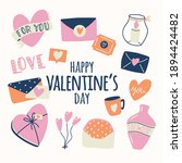 big collection of love objects...   Shutterstock .eps vector #1894424482