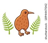 cute cartoon kiwi bird drawing... | Shutterstock .eps vector #1894447042