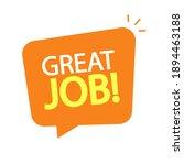 great job text icon in speech... | Shutterstock .eps vector #1894463188