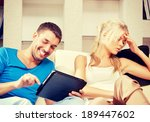 bright picture of couple with... | Shutterstock . vector #189447602