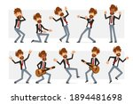 cartoon flat funny bearded... | Shutterstock .eps vector #1894481698