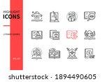 Literary Genres   Line Design...