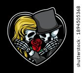 Old Skull Romantic Couple...