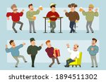 cartoon flat funny fat smiling... | Shutterstock .eps vector #1894511302