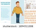 cartoon flat funny fat smiling... | Shutterstock .eps vector #1894511308