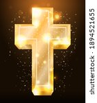 golden easter cross  vector... | Shutterstock .eps vector #1894521655