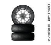 pile of car tires with alloy... | Shutterstock .eps vector #1894575055