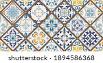 seamless colorful patchwork...   Shutterstock .eps vector #1894586368