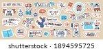 big set of motivational phrases ... | Shutterstock .eps vector #1894595725