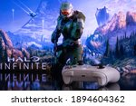 Halo infinite on screen with...