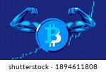 bitcoin. concept of... | Shutterstock .eps vector #1894611808