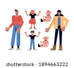 family icon collection design ... | Shutterstock .eps vector #1894663222