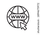 go to web icon symbol....