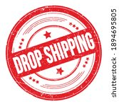 Drop Shipping Text On Red Round ...